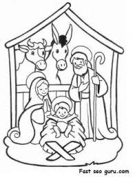 Printable Christmas Jesus In The Manger Coloring Pages Printable