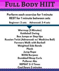 full body hiit exercise descriptions