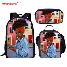 <b>WHEREISART</b> School Bags For Girls Teenager Schoolbag <b>Black Art</b> ...