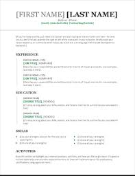 Resume Templet Fascinating Resume Template Chronological Blockbusterpage