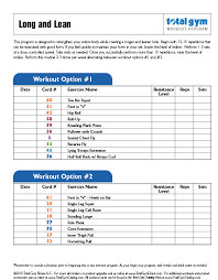 Gym Exercise Planner Fitness Rx Workouts Fitness And Workout