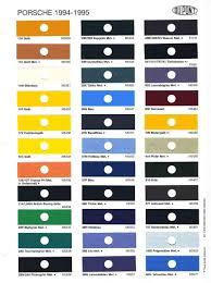 18 Porsche 993 Color Chart Porsche 993 Color Chart