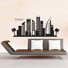 dubai skyline city silhouette vinyl