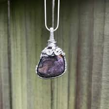 amethyst powerful and protective wire wrapped crystal pendant
