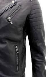 mens black slim fit brando style double cross