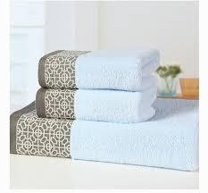 3pcs Printed Bath Towel Set 100 Cotton Face Beach For Adults