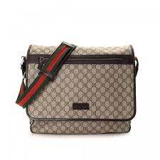 gucci crossbody. the authenticity of this vintage gucci crossbody bag messenger \u0026 is guaranteed by lxrandco. crafted in gg supreme coated canvas,