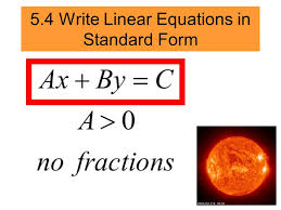 3 5 4 write linear equations in standard form