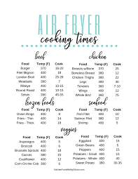 Air Fryer Oven Cooking Chart 20 Air Fryer Tips And Free Printable Kitchen Fun With My 3
