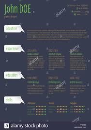 Modern Resume Cv Curriculum Vitae Template Design With Speech