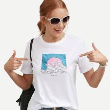 Интернет-магазин Летняя <b>футболка</b> Женская Русалка крутая ...