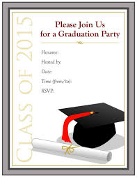 Sample Invitation Card For Graduation Party Graduation