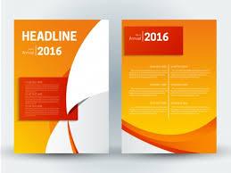 Brochure Background Design Finance Brochure Design With Orange Background Vectors Stock In