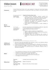 Clinical Social Work Resume Examples Cool Photos Work Resume Format