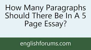 how many paragraphs should there be in a page essay