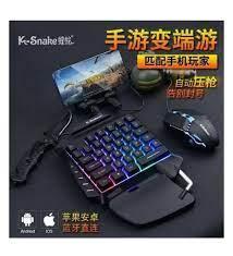 K-snake Pubg Oyun Gaming Klavye + Gaming Mouse Pad