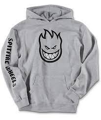 spitfire hoodie black. spitfire boys bighead full sleeve grey hoodie black