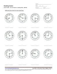 Second Grade Reading Clocks Worksheet 06 – One Page Worksheets