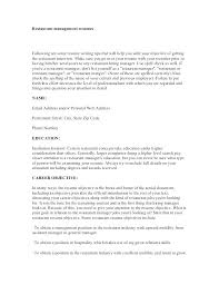 Restaurant Manager Resume Objective Sample Restaurant General Manager Resume Objectives For S