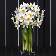 daffodils 3d model max obj mtl 1