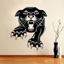 walking tiger wall art quality vinyl