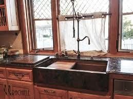 the photo of this custom copper farm sink was sent in by a past customer