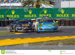 Race Action Collision Of Race Cars At Daytona Speedway Florida