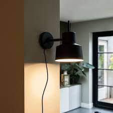 retro wall lamp black chappie
