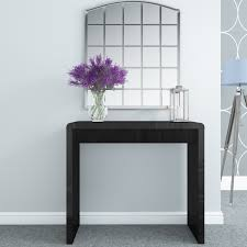 black high gloss console table with led lighting tiffany range