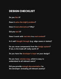Design System Checklist Design Handoffs A Simple Checklist To Minimize Unnecessary