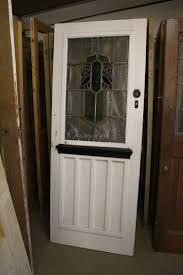 reclaimed 1930s style front door with stained glass panel door02 cawarden reclaim