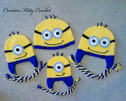 Free Crochet Minion Hat Pattern