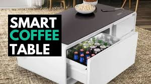 Beer Cooler Coffee Table Sobro The Smart Coffee Table With A Built In Fridge And Speakers