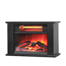 lifesmart tabletop infrared fireplace black