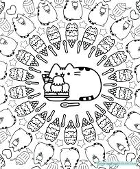 Pusheen Coloring Pages For Kids