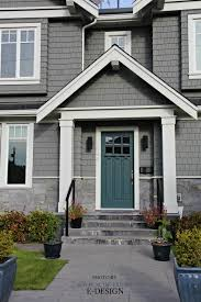 Front Door Curb Appeal, Colour Similar To Sherwin Williams Riverway.  Shingles Exterior Similar To