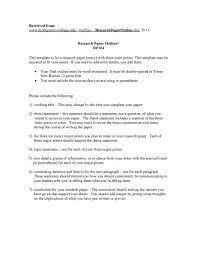 Writing A Research Paper Outline 22 Research Paper Outline Examples And How To Write Them
