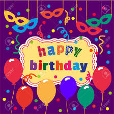 Birthday Cards Design For Kids Happy Birthday Card Balloons Confetti Cute Fonts Idea For Design