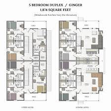 5 bedroom duplex house plan new floor plans for duplex apartments