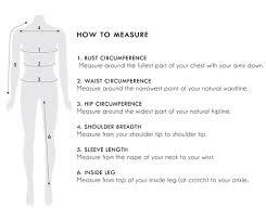Size Chart Frankie Co Clothing