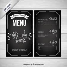 free food menu templates black fast food menu template vector free download