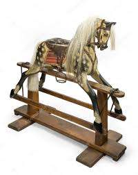 rocking horse for children stock photo