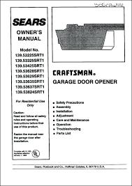 craftsman garage door opener 41a5021 manual sears craftsman garage door opener manual craftsman garage door opener