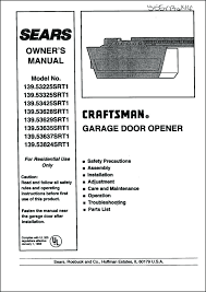 craftsman garage door opener 41a5021 manual home garage door repair rh ueba info lift master garage door opener manuals sears garage door opener parts