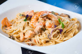 Creamy Seafood Pasta With Salmon ...