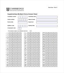 Multiple Choice Template Word 11 Printable Answer Sheet Templates Samples Examples