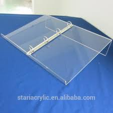 Angled Display Stand Factory Wholesale Angled A100 100 Ring Binder Acrylic Book Display 79