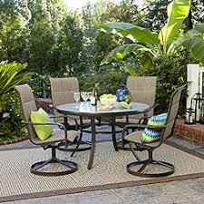 5 piece outdoor dining set. Garden Oasis Miranda 5-Piece Glass-Top Dining Set 5 Piece Outdoor