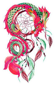 Chinese Dream Catcher Delectable Chinese Dragon And Dreamcatcher Card Watercolor Ethnic Dreamcatcher