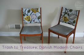 danish modern chair trash to trere the borrowed abode
